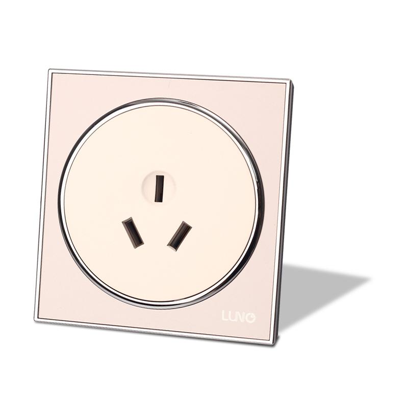 圆梦系列 三极16A插座(金色)