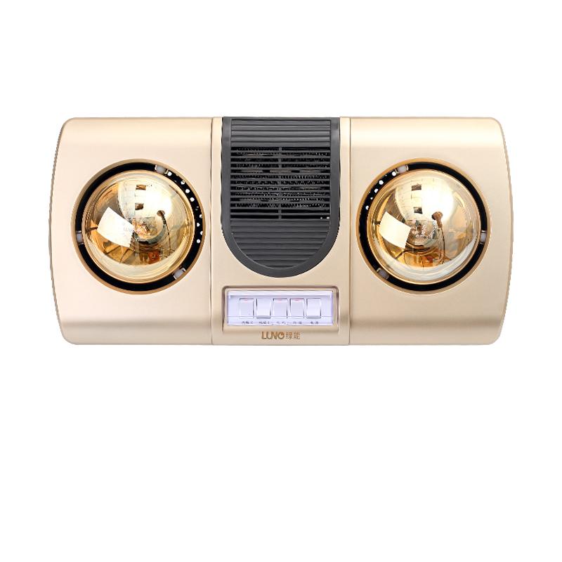 LN-YB0061 壁式浴霸-SL-黄金暖风二灯