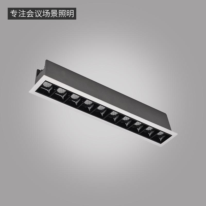 LN-Q系列格栅点光源-嵌入式条形灯-10头